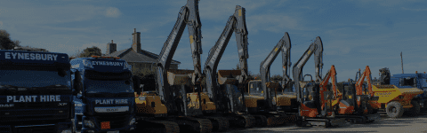 A LARGE VARIETY OF EXCAVATORS